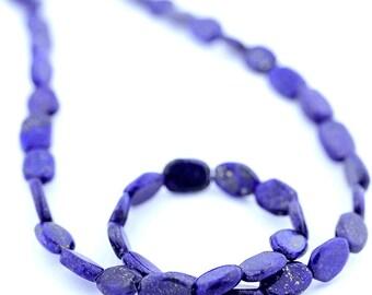 Lapis Lazuli Beads 10 x 7mm Oval Cut Smooth Round Beads