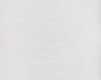 KNIT Fabric: Solid White Cotton Lycra knit