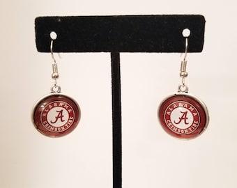 Alabama Earrings, Crimson Tide Earrings