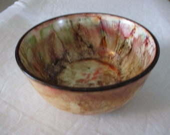 One of a kind hand painted bowl