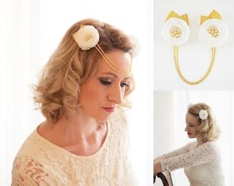 """1920s headpiece """"Divine"""" / 1920s headpiece / Fascinator"""