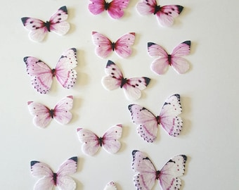 Edible Butterflies, Ombre 3D Double-Sided Wafer Paper Toppers for Cakes, Cupcakes or Cookies