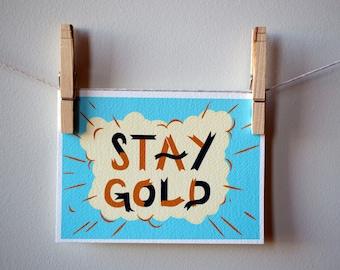 Stay Gold Postcard