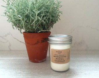 Bug Repel Outdoor Soy Candle : Lemongrass + essential oil { chemical free }