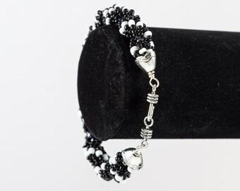 Black and White Spiral Bracelet