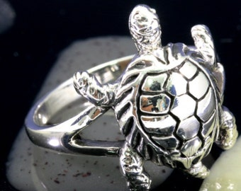 Turtle Ring 925 sterling silver -  6029