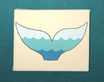 Whale Tail Canvas