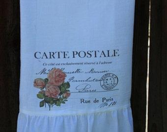 Shabby Chic, Cottage, French, Farmhouse, Flour Sack Towel, Kitchen Towel. (Carte Postale)