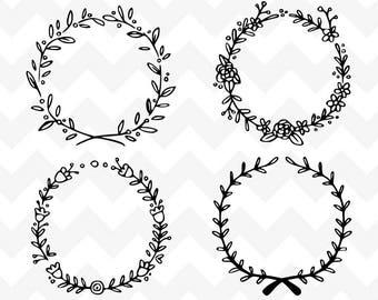 Floral Wreath SVG | Wreath SVG | Wreath Bundle SVG Cutting File | Cutting File | Silhouette | Laurel Wreath Bundle svg | Wreath svg