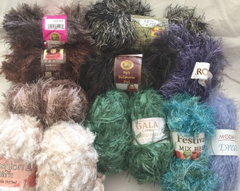 Furry yarn Destash