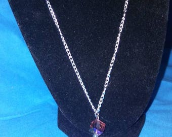 Small rainbow pendant necklace