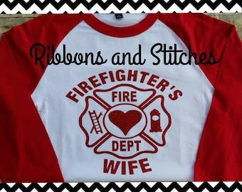 Firefighter's Wife Raglan