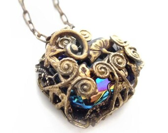 Mysterious Vines - Vintage Filigree Jewelry Design Necklace