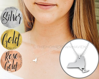 New York Necklace - New York map Necklace, NYC Necklace