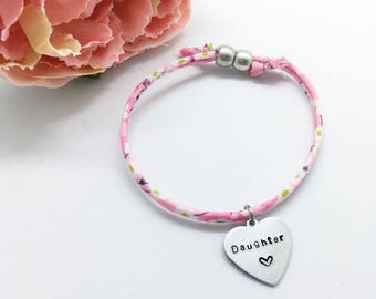 """Personalised childrens 'Daughter"""" Liberty bracelet 