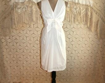 Sleeveless White Dress Cotton Party Dress White Summer Dress Midi Dress V Neck Womens Dresses Cotton Dress Medium Large Womens Clothing