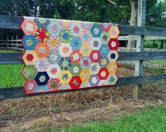 Custom Quilts, Quilts for Sale,  Hexagon Quilts, Baby Quilts, Vintage Style Quilts, MADE TO ORDER