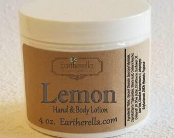 Eartherella LEMON Hand and Body Lotion Jar 4 oz.