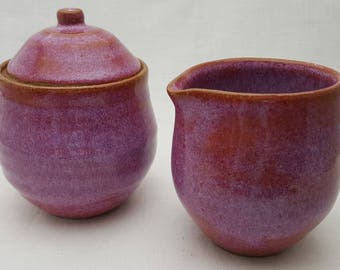 Ceramic Stoneware Sugar and Creamer set