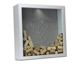 Wedding Guest Book Shadow Box, Wedding Guest Book Alternative, Wedding Shadow Box, Wedding Shadow Box  [Mr. & Mrs. WED-012]