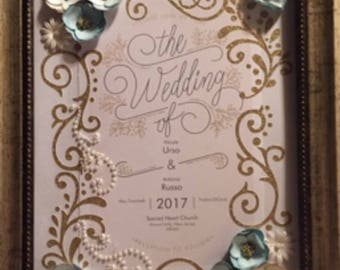 Wedding Invitation Custum Heirloom, Unframed
