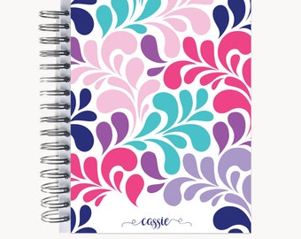 Address and/or Password Book – Personalized   Spiral   Business   Contacts   Gifts   Swirl Multi