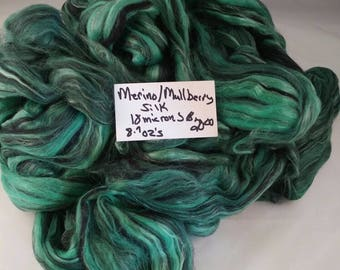 70-30 blend Merino. Mulberry silk