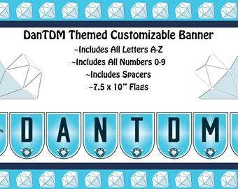 DanTDM Themed Custom Banner