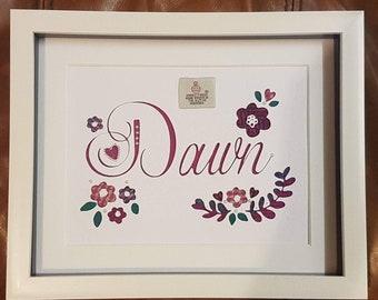 Personalised Name Harris Tweed Picture Frame