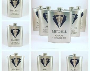Personalised hip flask, hip flask personalised, personalised flask, flasks , pocket flask, groomsmen gift