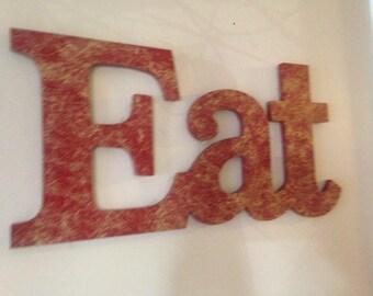 EAT Sign, Eat Decor, KitchEn DeCor