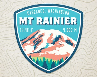 Mt. Rainier Decal Sticker