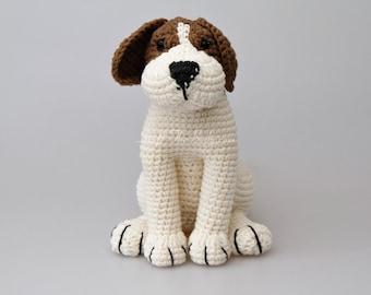 Azor The Beagle Dog Amigurumi Pattern, Puppy Crochet Pattern, nursery decor, birthday present, gifts for kids, home decoration, baby shower