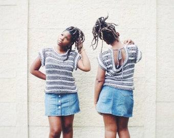The Savannah Crochet Top Pattern. Instant Download!