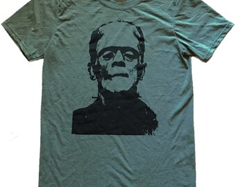 Frankenstein Graphic on a Mens Unisex Shirt - (Sizes S, M, L, XL)
