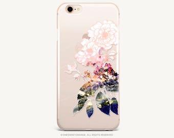 iPhone 8 Case iPhone X Case iPhone 7 Case Floral Clear GRIP Rubber Case iPhone 7 Plus Clear Case iPhone SE Case Samsung S8 Plus Case U236