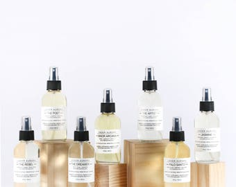 Botanical Body Spritz - a collection of seven different natural fragrances - made with essential oils and absolutes