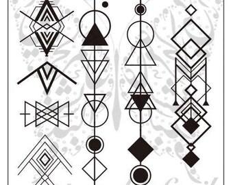 Geometric Pattern Nail Stamping Plate