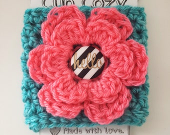 Pink Flower Cozy Cup