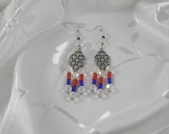 Beaded chandelier earings