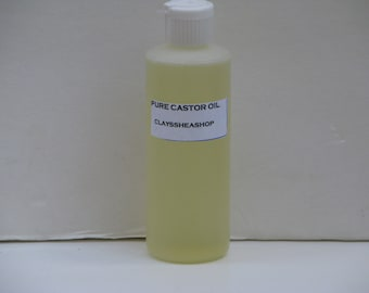 Pure Premium Organic Natural 100% Expeller Pressed Hexane Free Castor Oil