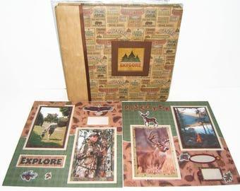 Camping Scrapbook Album - Boy Scout Scrapbook Album - Premade Camping Scrapbook - Camping Photo Album - Boy Scout Photo Album-  Camping Trip
