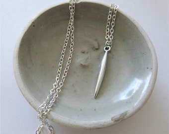 Silver Spike Pendant Necklace