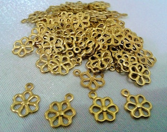250 Pcs Raw Brass 8 x 11 mm , Daisy Form Findings