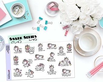 CAN'T EVEN UNICORNS - Paper Planner Stickers! - SS151