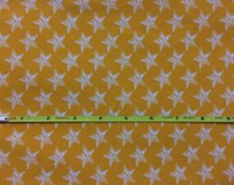 """NEW Stars on cotton lycra knit fabric 95/5 58"""" wide."""