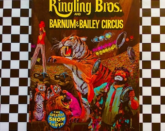 c1972 102nd Edition SOUVENIR Ringling Bros Barnum Bailey CIRCUS Program