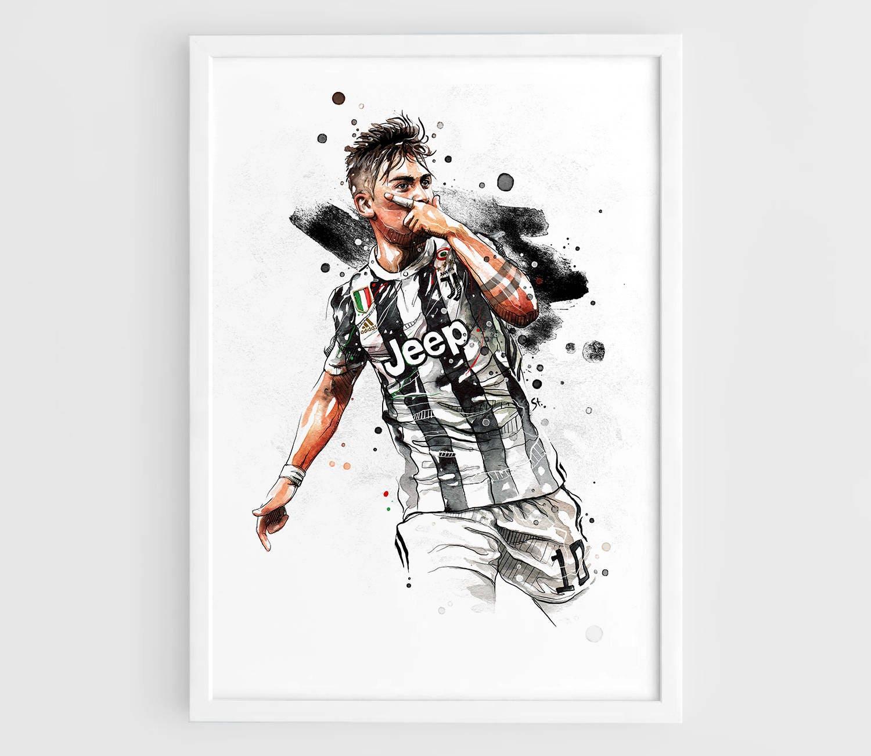 Paulo Dybala Juventus Wall Art Print Poster Of The Original