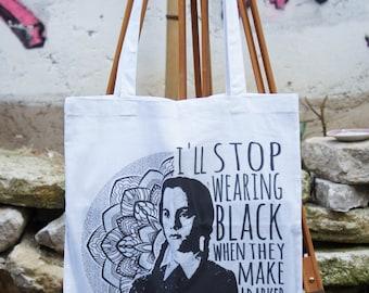 Tote Bag Wednesday Addams Mandala