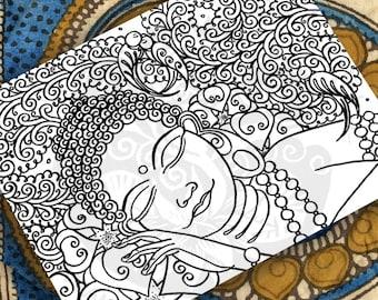 BUDDHA COLORING PAGE